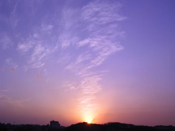 夕陽が創る光の芸術
