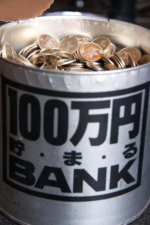 100万円貯まる500円玉貯金箱