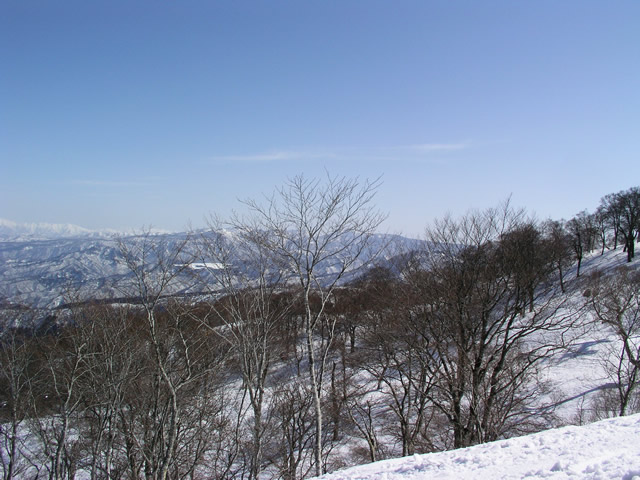 冬山の風景 長野県