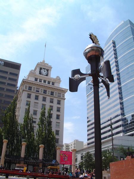 パイオニア・スクエア(Pioneer Square)の時計塔